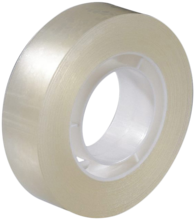 Klar tape 15mm×33m kern.ø25mm pk/10