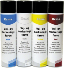 Kema vej- og mark.spray gul 600ml